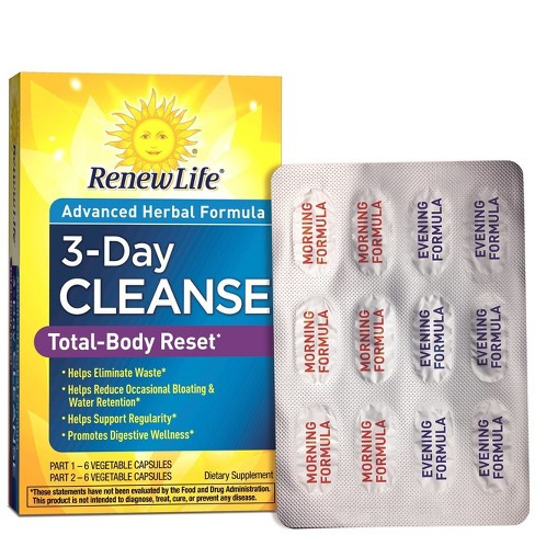 Renew Life Total Body Reset 3-Day Cleanse Capsules - 12ct