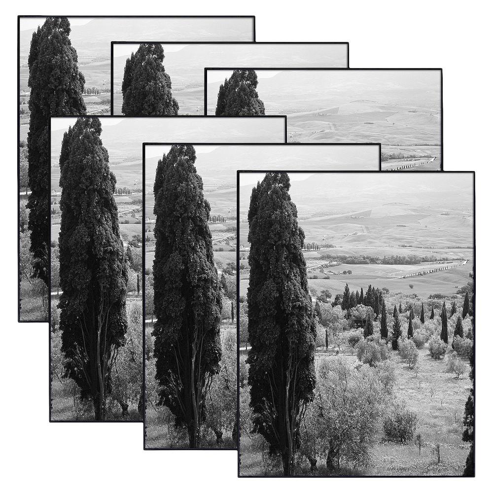 """Image of """"8.5"""""""" x 11"""""""" Set of 6 Format Picture Frame Set Black - MCS"""""""