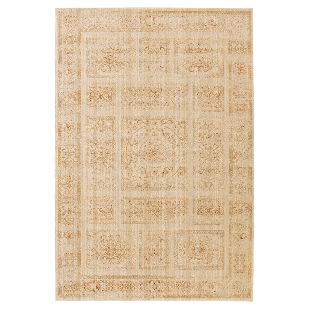 Beige Solid Tufted Area Rug - (5'3