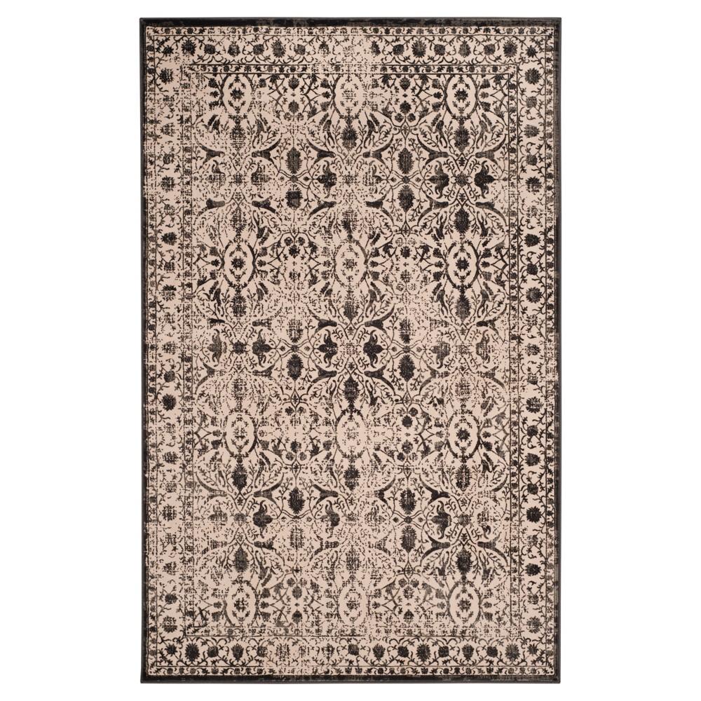 Creme/Black Abstract Loomed Area Rug - (8'X10') - Safavieh