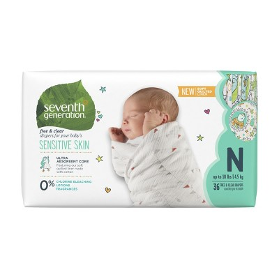 Seventh Generation™ Free & Clear Diapers Newborn - 36ct