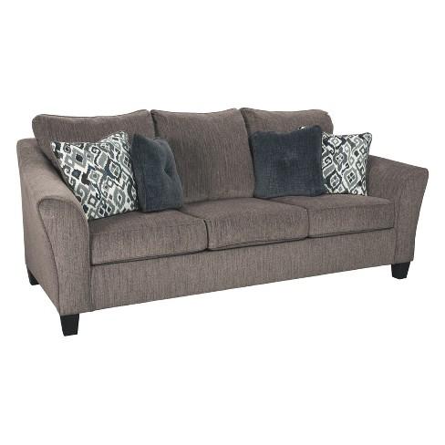 Terrific Nemoli Queen Sofa Sleeper Slate Gray Signature Design By Ashley Download Free Architecture Designs Terchretrmadebymaigaardcom