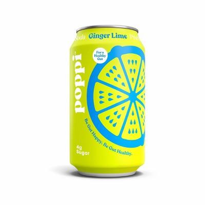 Poppi Ginger Lime Prebiotic Soda - 12 fl oz Can