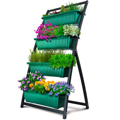 Outland Living 4-Ft Raised Garden Bed - Vertical Garden Freestanding Elevated Planters 4 Container Boxes