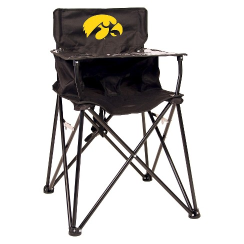 Magnificent Ciao Baby University Of Iowa Hawkeyes Portable High Chair In Black Beatyapartments Chair Design Images Beatyapartmentscom
