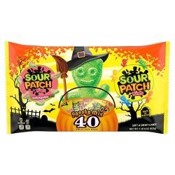 Sour Patch Kids & Sour Patch Watermelon Halloween Treat Size Laydown Bag - 40ct/22oz