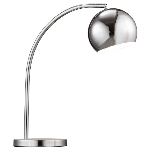 """Modern 17"""" Compact Chrome Table Lamp (Lamp Only) - ZM Home - image 1 of 1"""