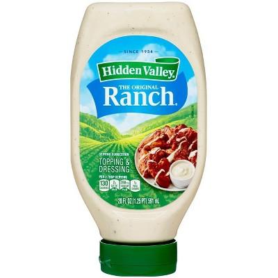 Hidden Valley Easy Squeeze Original Ranch Salad Dressing & Topping, Gluten Free, Keto-Friendly - 20fl oz