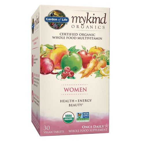Garden of Life My Kind Organic Women's Daily Multivitamin Tablets - 30ct - image 1 of 4