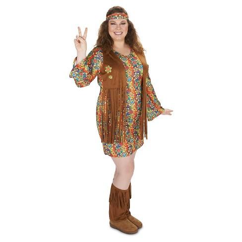 c817c5dcbbe Women s 60 s Hippie With Fringe Costume 1X   Target