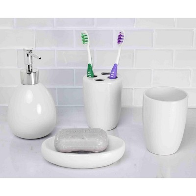 Home Basics 4 Piece Bath Accessory Set