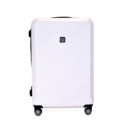 FUL 29  Scribble Hardside Spinner Suitcase - White