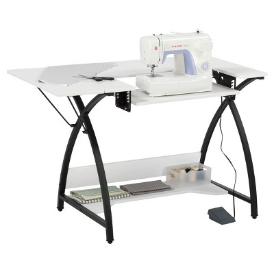 Sew Ready Comet Hobby And Sewing Table Black/White - Studio Designs