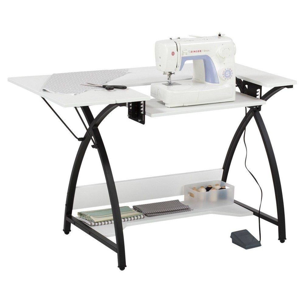 Comet Sewing Table - Black / White - Sew Ready