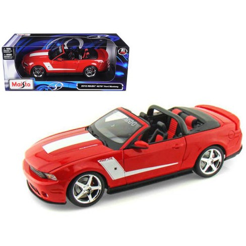 2010 Ford Mustang Convertible 427r Roush Edition Red 1 18 Cast Model Car By Maisto Target