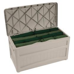 Suncast 73 Gallon Outdoor Patio Deck Resin Storage Organization Chest Box, Taupe
