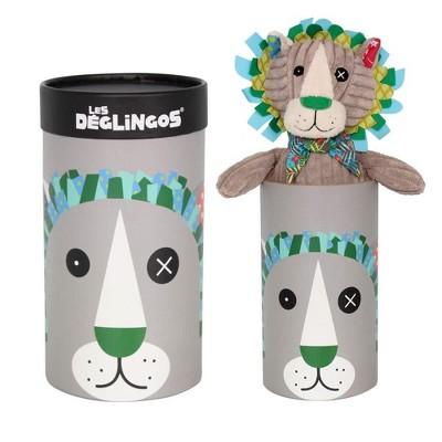 TriAction Toys Les Deglingos Big Simply Plush Animal In Tube | Jelekros the Lion