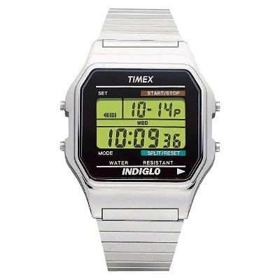 Men's Timex Classic Digital Expansion Band Watch - Silver T785879J