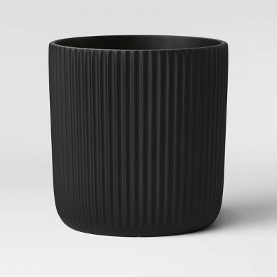 "12"" Ribbed Polypropylene Floor Planter Black - Project 62™"
