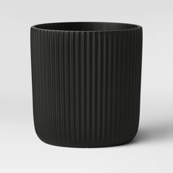 Ribbed Polypropylene Floor Planter Black - Project 62™