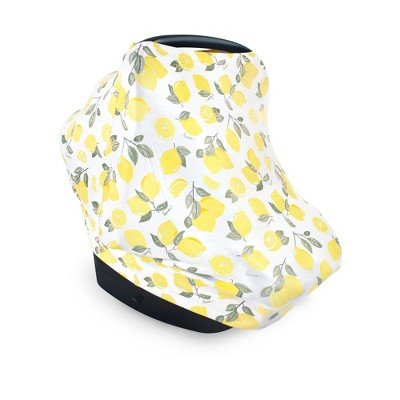 Hudson Baby Infant Girl Multi-use Car Seat Canopy, Lemons, One Size