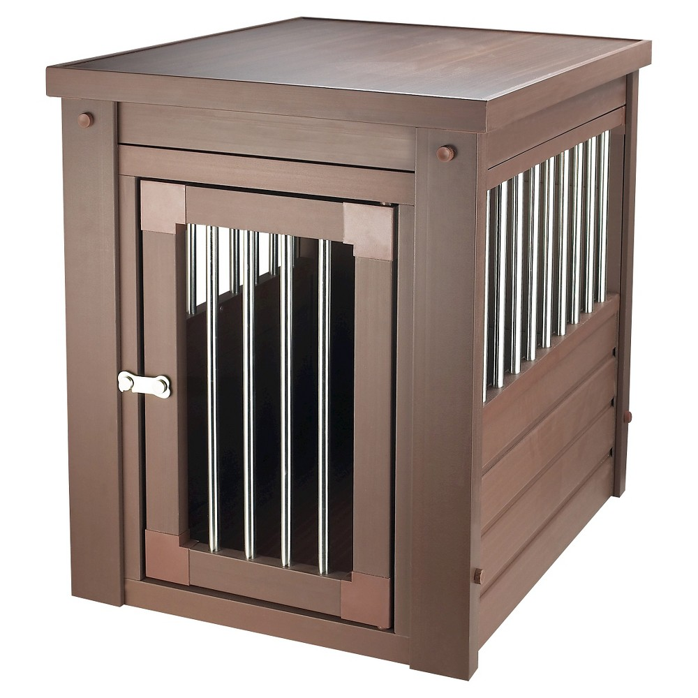 New Age ecoFLEX Habitat 'n' Home Stainless Steel Dog Crate - Brown - Small, Russet
