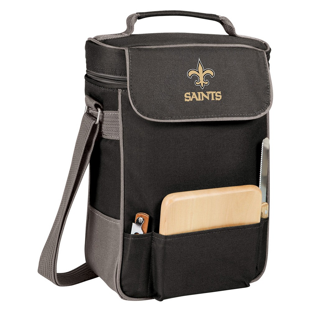 New Orleans Saints - Duet Wine and Cheese Tote by Picnic Time (Black)
