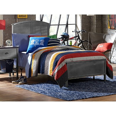 Full Urban Quarters Metal Panel Bed Steel Black - Hillsdale Furniture