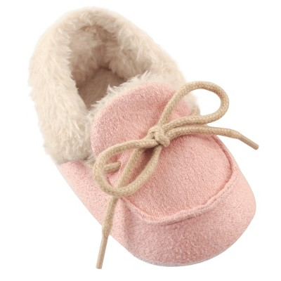 Luvable Friends Baby Girl Moccasin Shoes, Pink