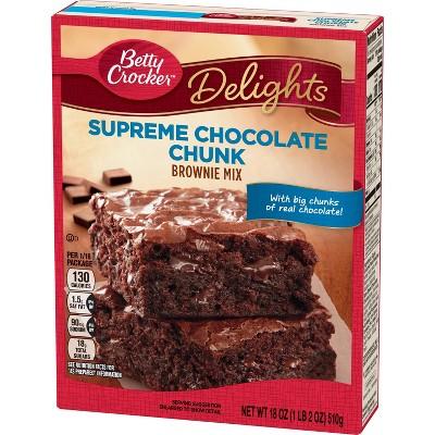 Betty Crocker Supreme Chocolate Chunk Brownie Mix - 18oz