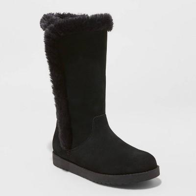 Women's Daniela Suede Tall Boots - Universal Thread™ Black 7