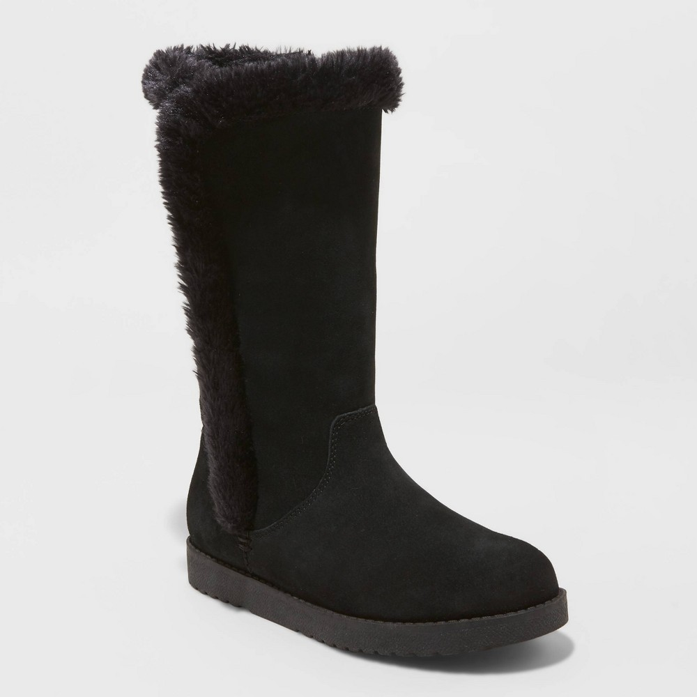 Image of Women's Daniela Suede Tall Boots - Universal Thread Black 5