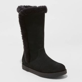 Women's Daniela Suede Tall Boots - Universal Thread™ Black 7