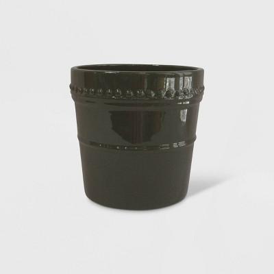 8  Reactive Glaze Nailhead Planter Green - Smith & Hawken™