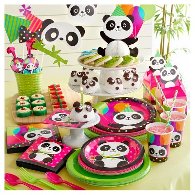 Astonishing 10Ct Panda Photo Booth Props Target Birthday Cards Printable Trancafe Filternl