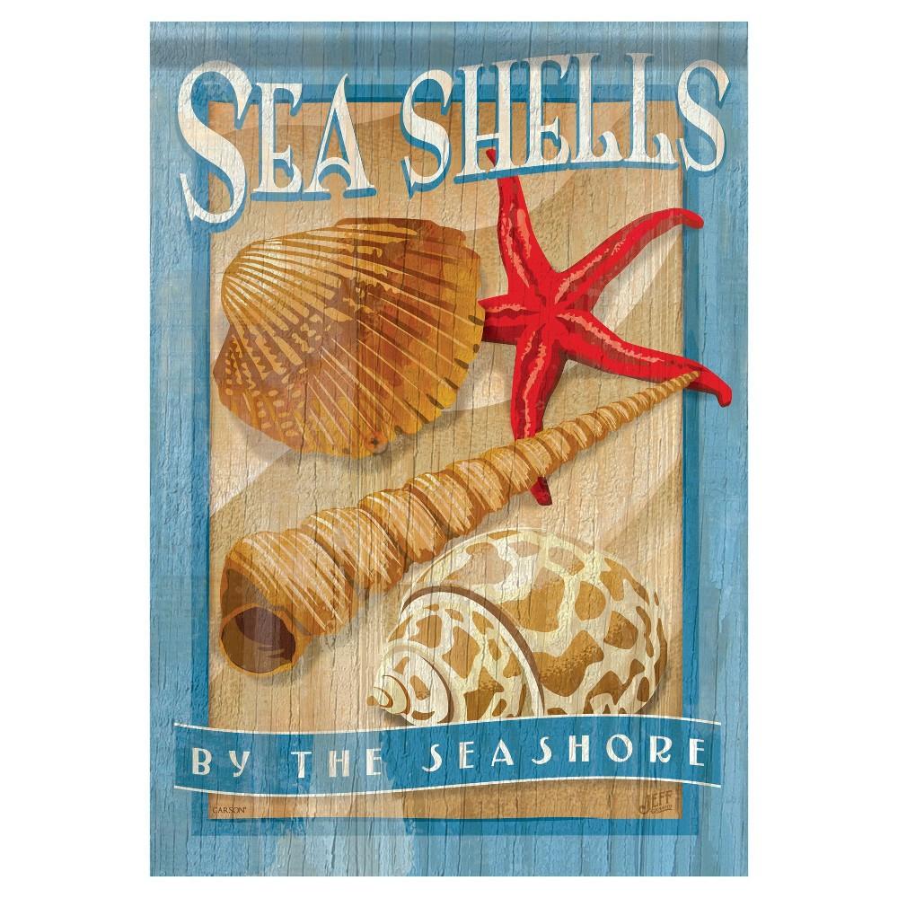 """Image of """"13""""""""x18"""""""" Sea Shells Garden Flag - Carson, Multi-Colored"""""""