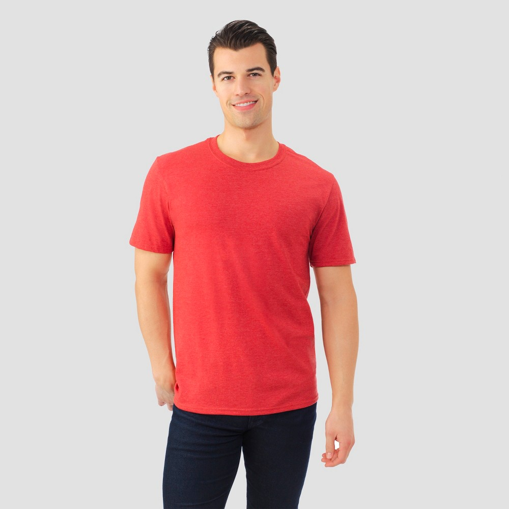 Fruit Of The Loom Men's Short Sleeve T-Shirt - Rockwood Red Heather M