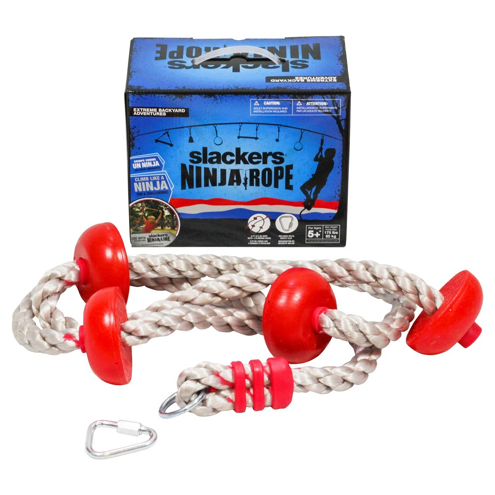 Ninja 8' Climbing Rope with Foot Holds