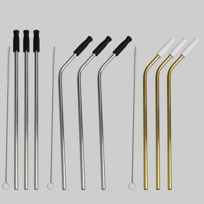 12pc Metal Straws - Bullseye's Playground™
