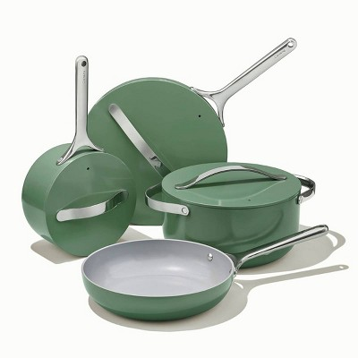 Caraway Home 7pc Non-Stick Cookware Set - Sage