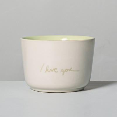 6.77oz Zest 'I Love You' Ceramic Candle - Hearth & Hand™ with Magnolia
