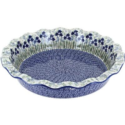 Blue Rose Polish Pottery Brienna Pie Plate
