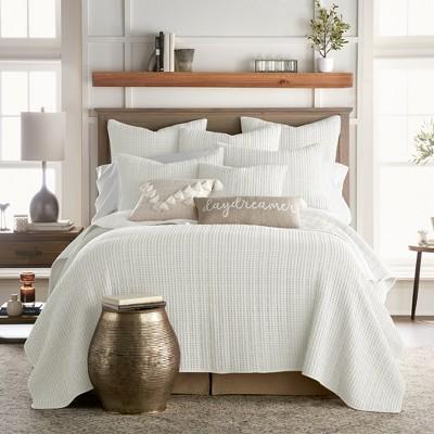Mills Waffle Quilt and Pillow Sham Set - Levtex Home