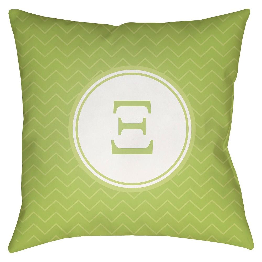 Green Xi Throw Pillow 18