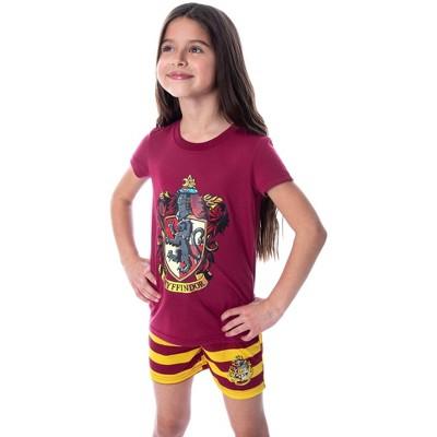 Harry Potter Girls' Hogwarts Castle Shirt and Shorts Pajama Set - All 4 Houses