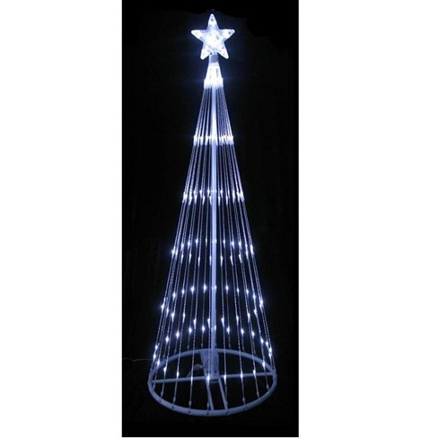 Northlight 6 Pure White Led Lighted Show Cone Christmas Tree Outdoor Decoration