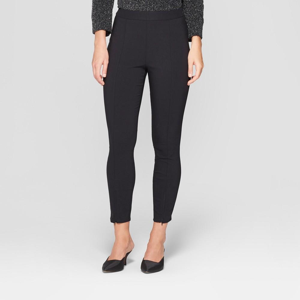 Women's Skinny Zip Crop Pants - Who What Wear Black 16