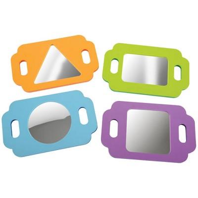 Edushape Infant and Toddler Easy Grasp Shape Mirrors - Set of 4