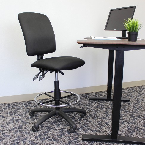 Multi-Function Fabric Drafting Stool Black - Boss Office Products - image 1 of 4