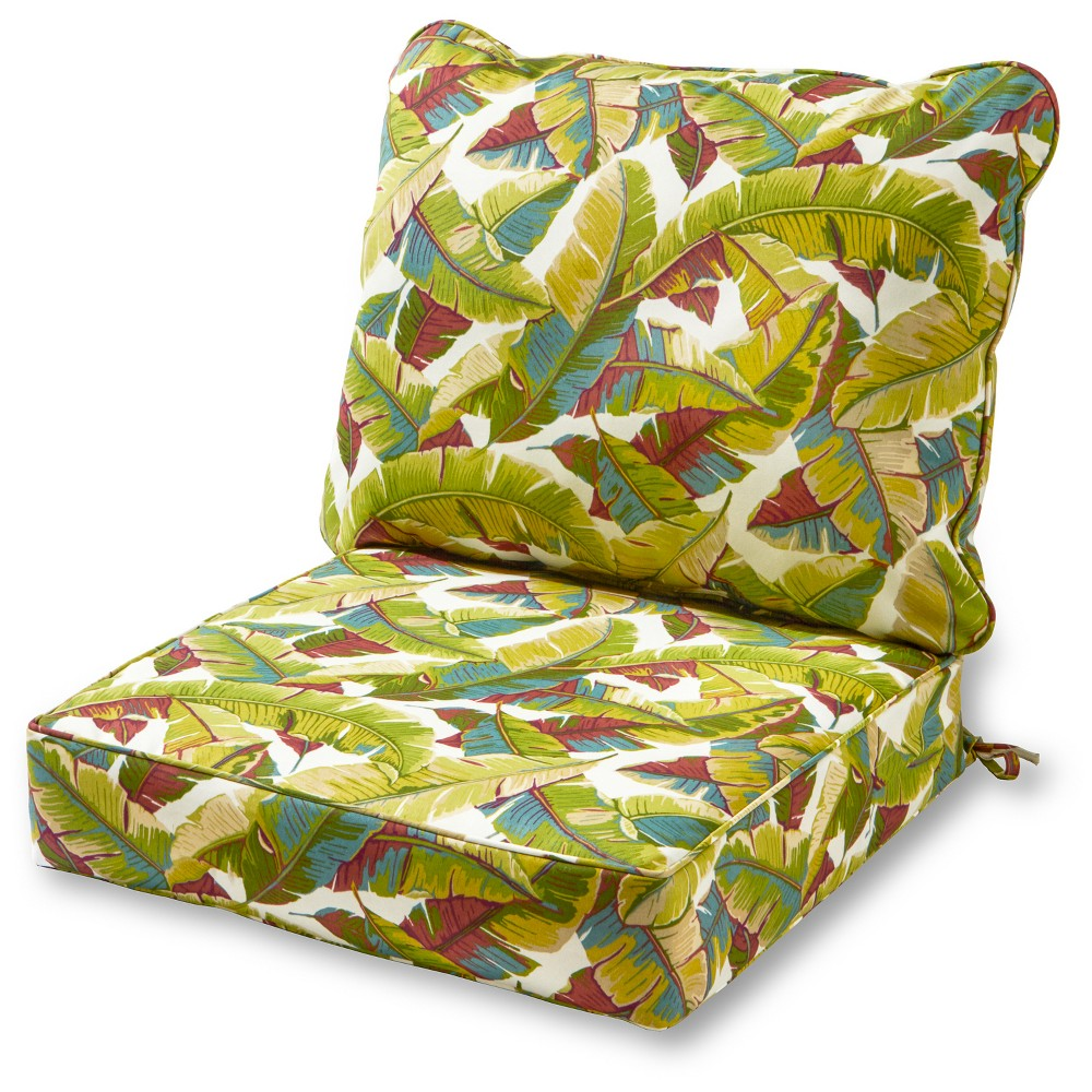 Image of 2pc Palm Multi Outdoor Deep Seat Cushion Set - Kensington Garden